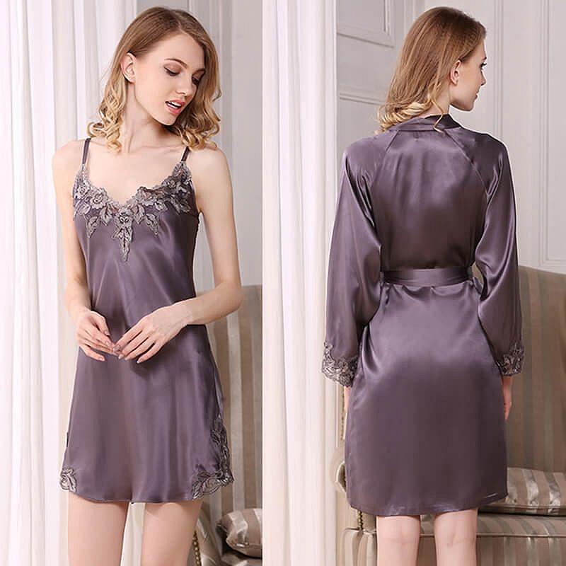 Long Mulberry Silk Nightgown for Women | Night gown
