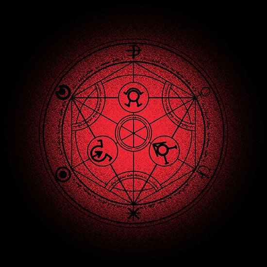 Transmutation Halftone Circle Fashion Apparels Fullmetalalchemist