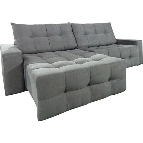 Sof 3 lugares reclin vel e assento retr til portinari for Sofa 03 lugares retratil e reclinavel