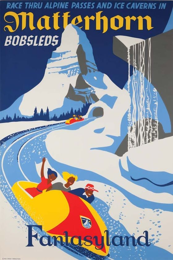 Retro Disneyland Attraction Posters Vintage Disneyland