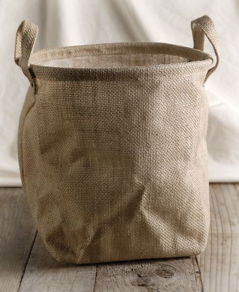 burlap bag w handles and liner 9x9 supplies craft