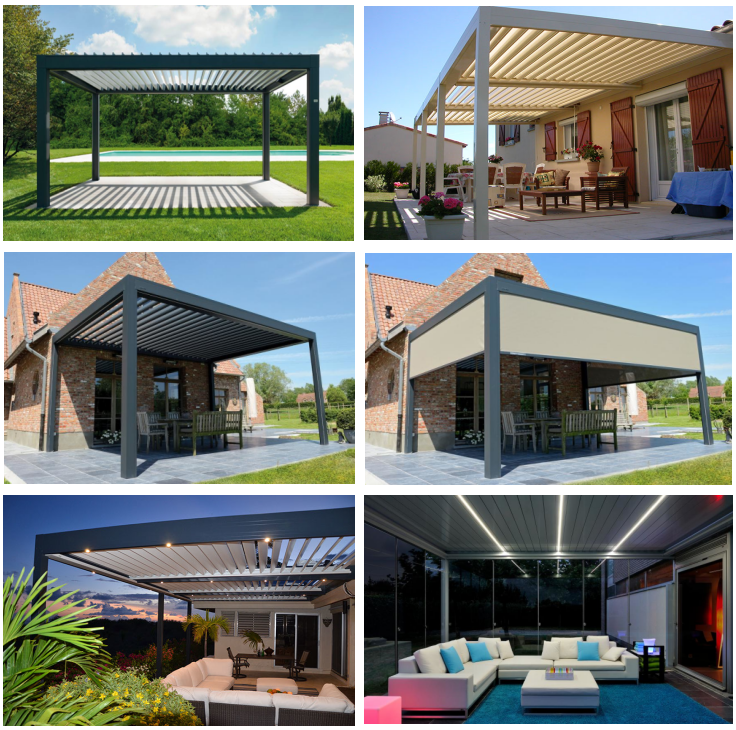 Pergola Aluminum Motorized Openning Roof Louvre System Nz Louvres