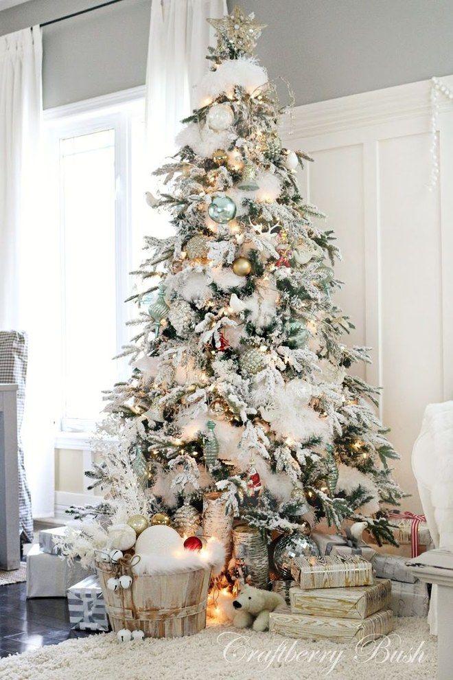 Addobbi Natalizi Moderni.Addobbi Natalizi Decorazioni Originali Per La Casa Per Il Natale Alberi Di Natale Con La Neve Natale Vacanze Di Natale