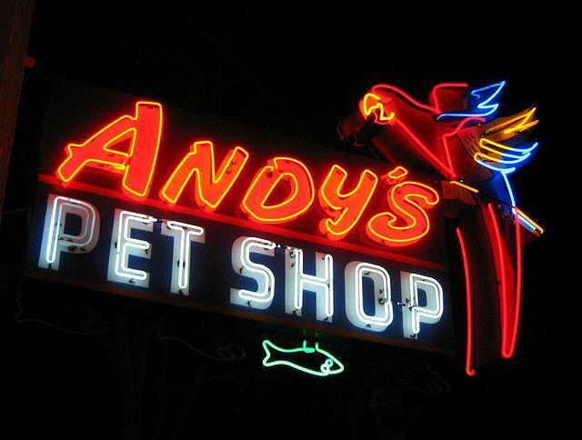 Andy's Pet Shop Sign, San Jose
