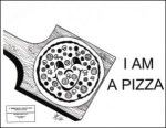 Bubble Rock: I am a Pizza - Black & White 11x17 inch in English or Spanish,