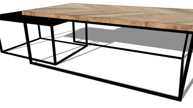 773400 Table Basse Metal Fer Forge Et Bois 90x90cm Table Basse Bois Table Basse Bois Metal Table Basse Fer