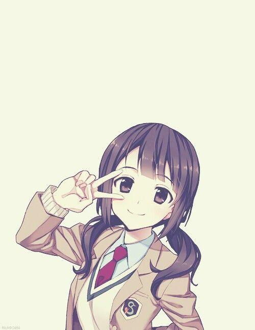Okita Sawa Peace Sign Tari Tari Tari Tari In 2019 Pinterest