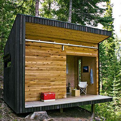 DIY woodsy cabin