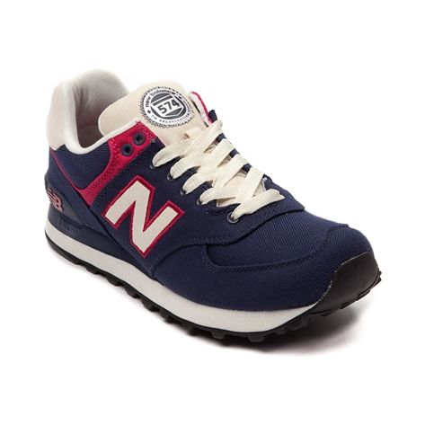 new balance 574 womens navy pink
