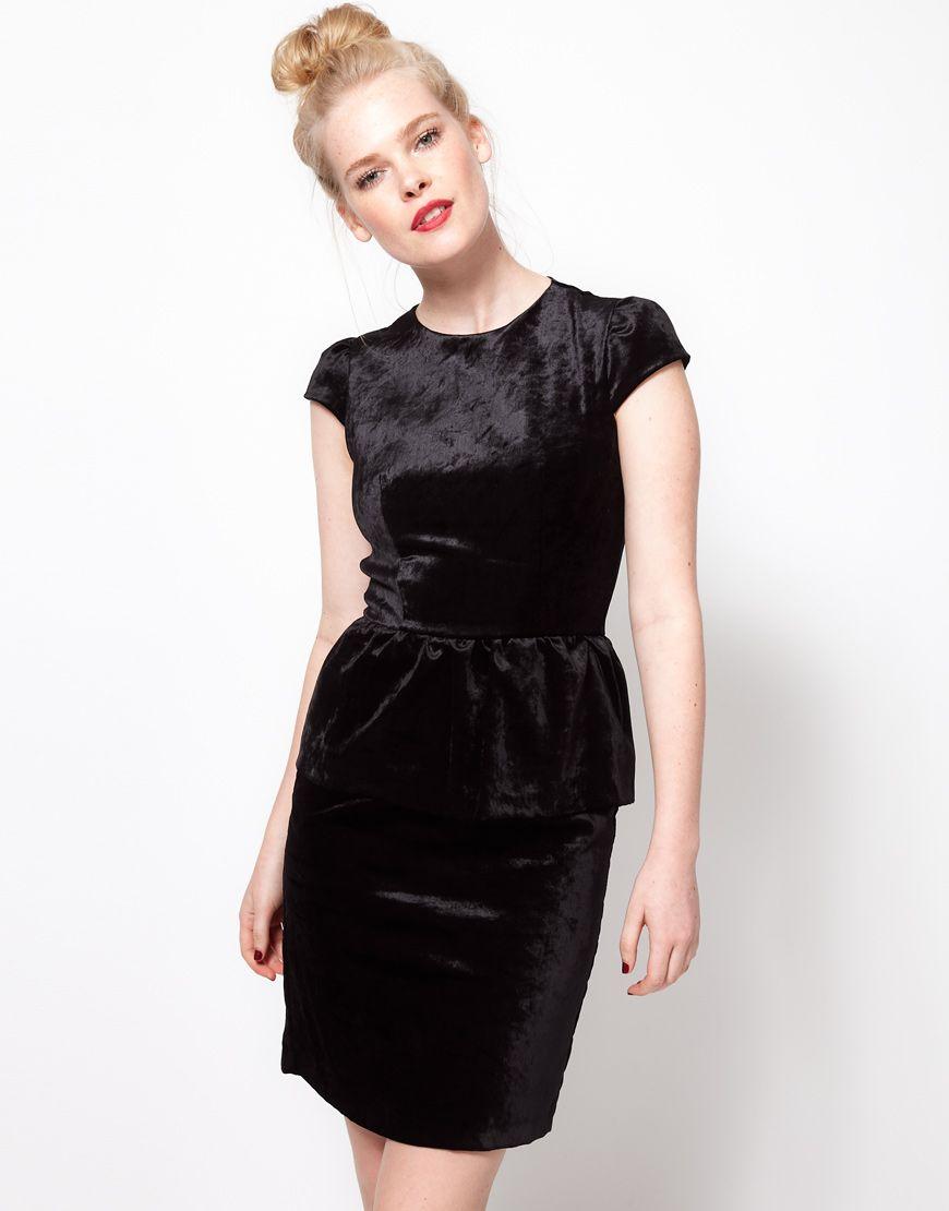 Ivana helsinki peplum velvet dress my style pinterest asos