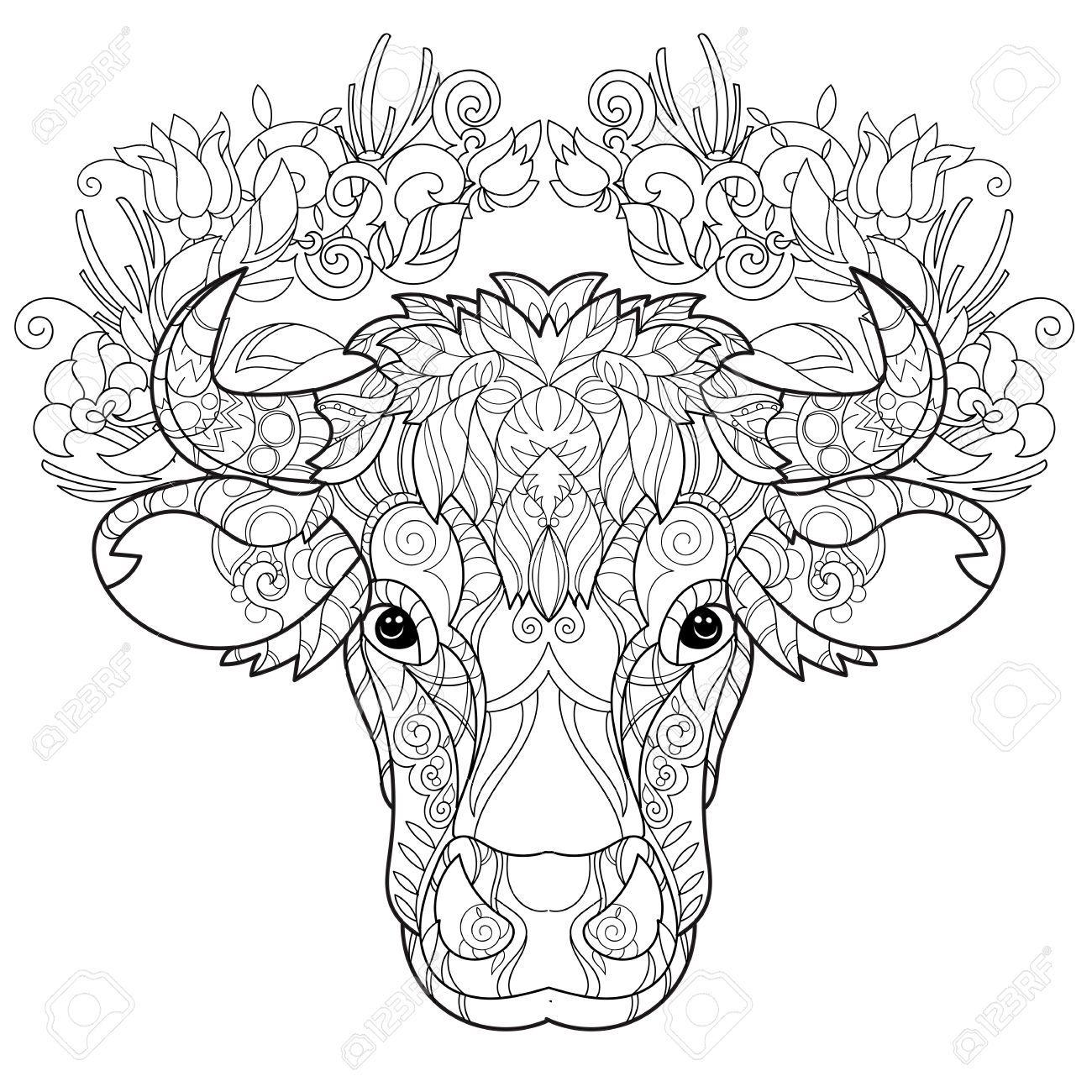 Decorated Cow Heads Google Search Mandala Kleurplaten Koeien Kunst Kleurplaten