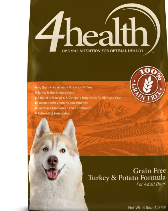 4health Grain Free Turkey Potato Dog Food 4 Lb Tractor