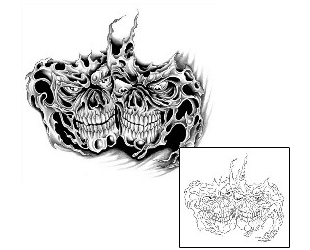 Show details for Skull Tattoo G1F-00595