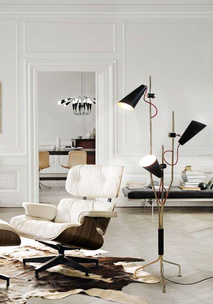 Evans Mid Century Modern Floor Lamp Mitte des Jahrhunderts - moderne wohnzimmer stehlampe