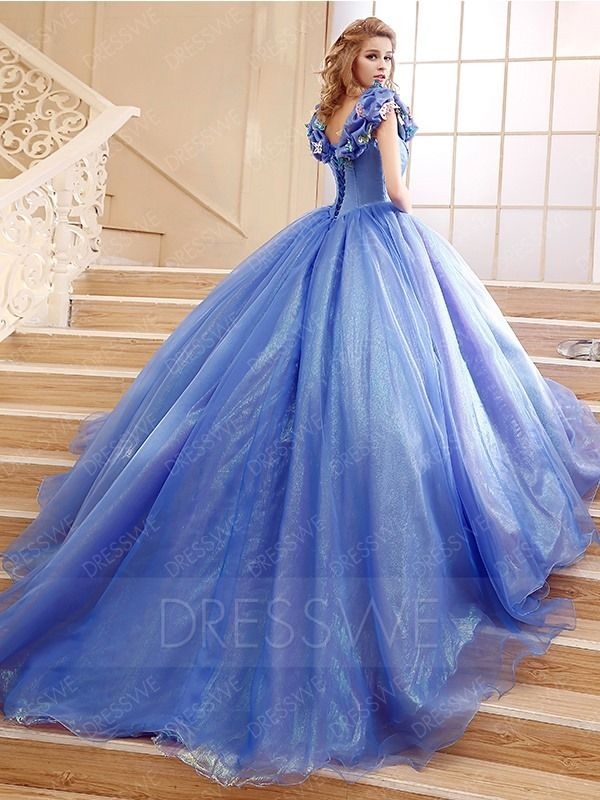 $158.99 Dresswe.com SUPPLIES Hot Sale Flower Cinderella Princess Lace-Up Ball Gown #bedfalls62