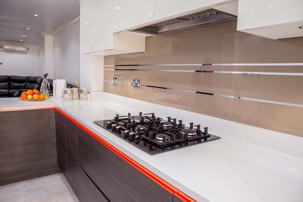 Antelope Mirror Stripes Kitchen Splashback By CreoGlass Design (London,UK).  See More