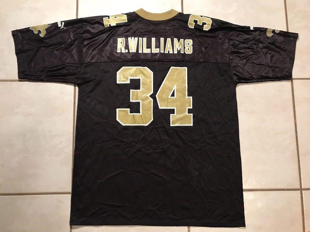 Rare Vintage PUMA Orleans Saints Ricky Williams NFL Jersey Men s XL ... 5b7928e6a