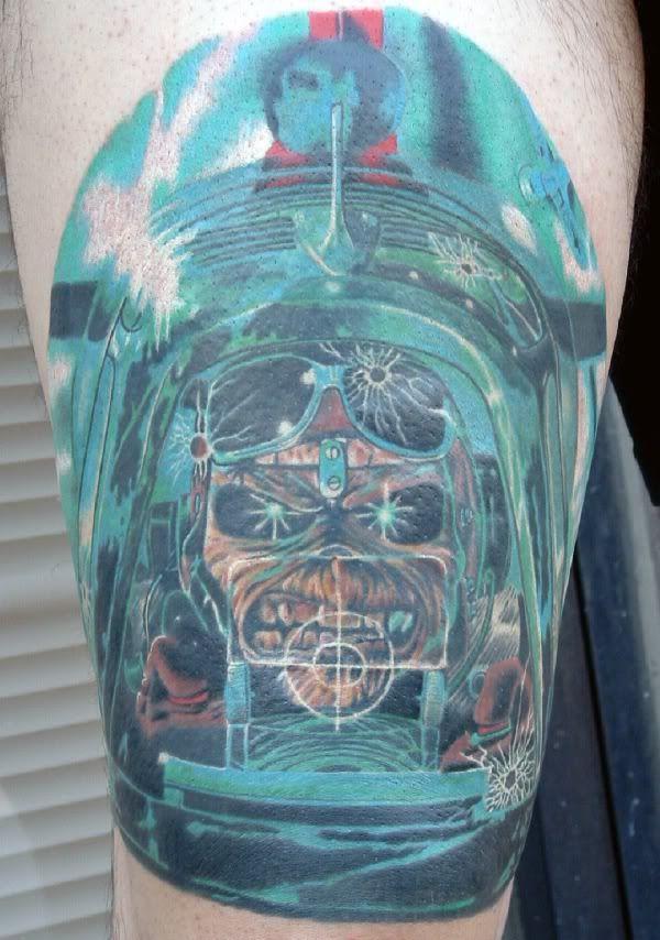 Iron Maiden - Aces High   Tattoo ideas   Heavy metal tattoo, Metal ...