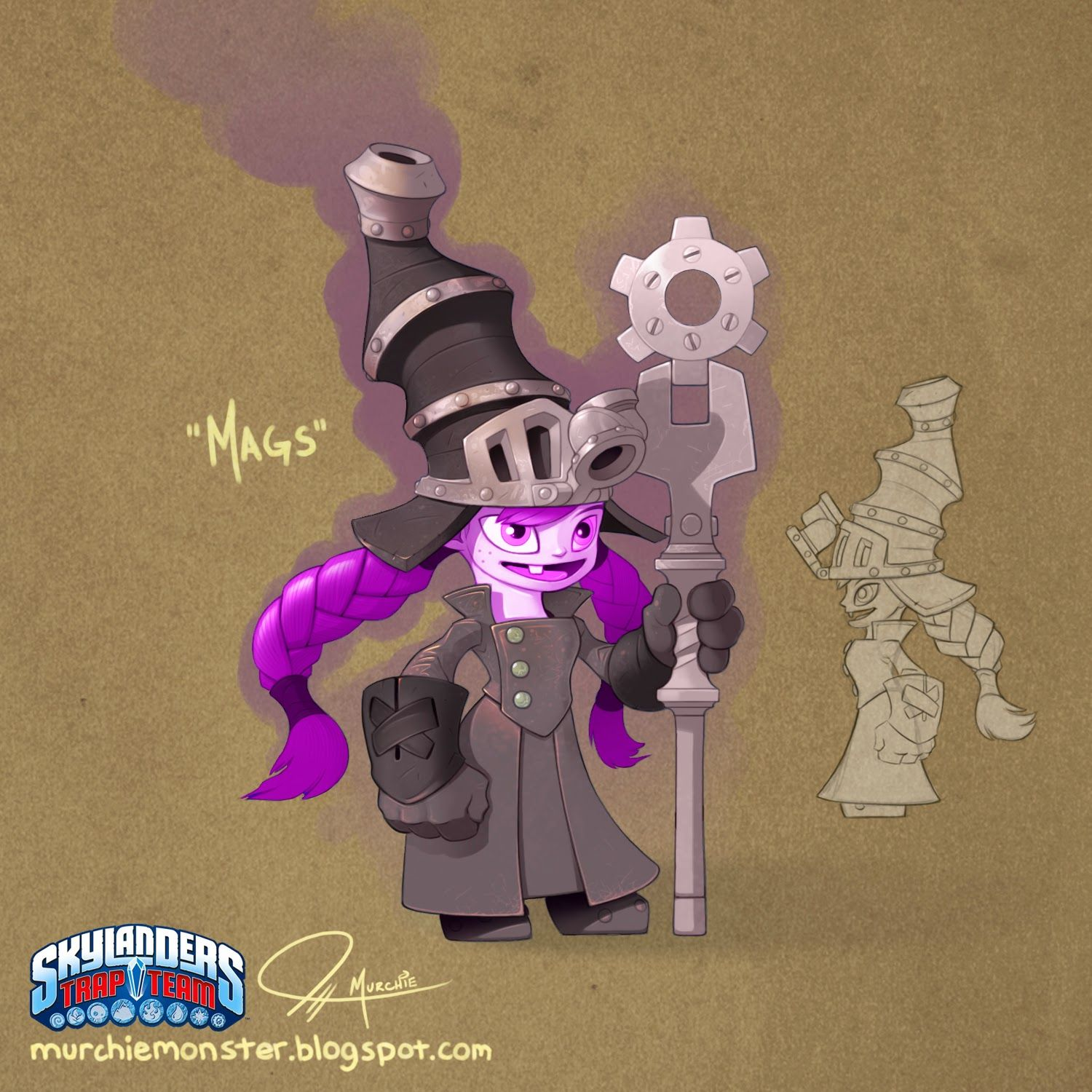 Skylanders Trap Team - Buzz and Mags concepts!