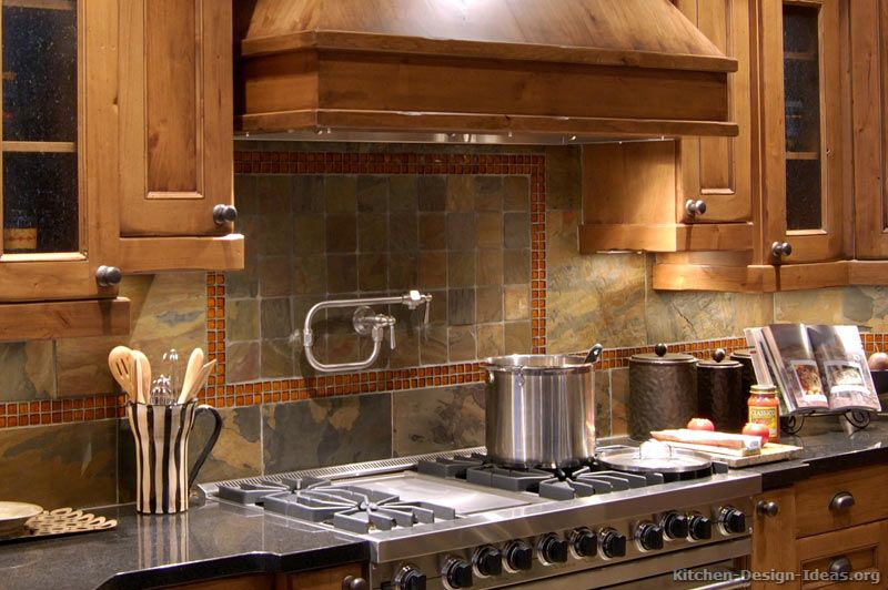 Kitchen Idea Of The Day Slate Tile Backsplash With A Pot