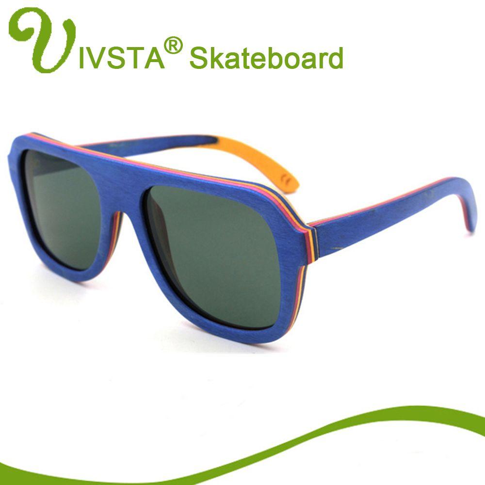 9eef3823dcd IVSTA Real Pilot Wood Sunglasses Skateboard Glasses Men Aviator Eyeglasses  Wooden Eyewear Spectacle Frames Polarized Handmade