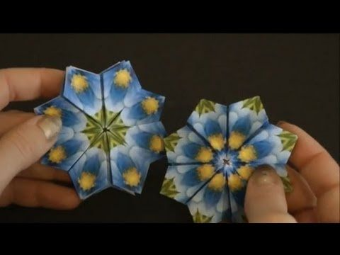 How To Make An Origami Iris Flower ( Mother's Day ). (Full HD) - YouTube | 360x480