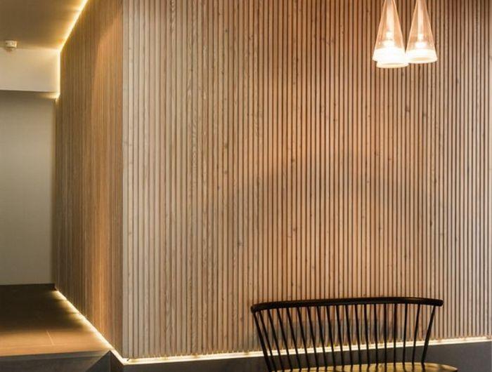 Lu0027éclairage indirect, 52 super idées en photos! - mur en bois interieur