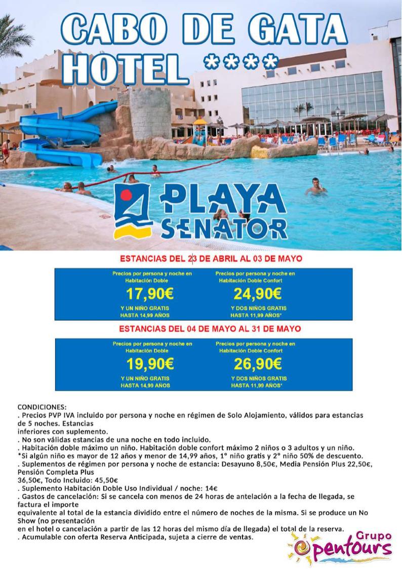 Grupo Opentours Hotel Cabo De Gata Retamar Almería Andalucía España Especial Abril Mayo 2018 Información Y Reservas En Tu Ag Travel