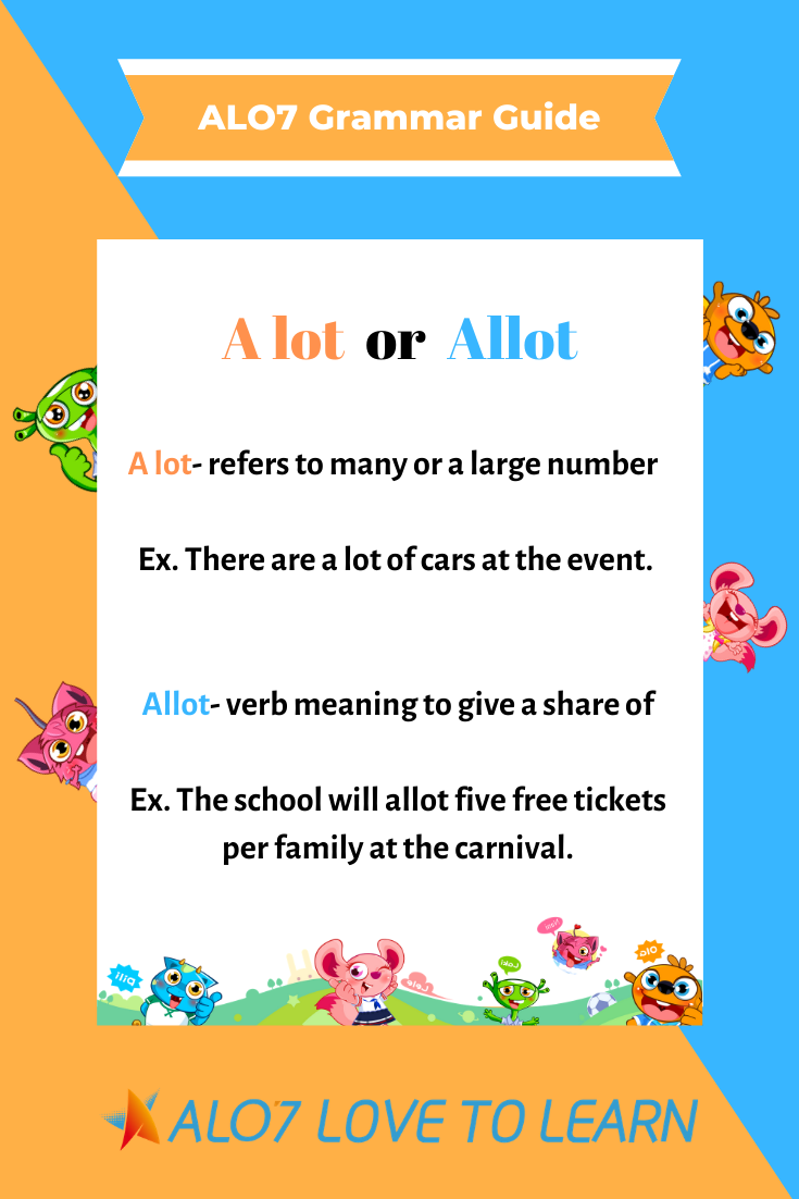 ALO7 Grammar Guide A lot or Allot? Do your students have