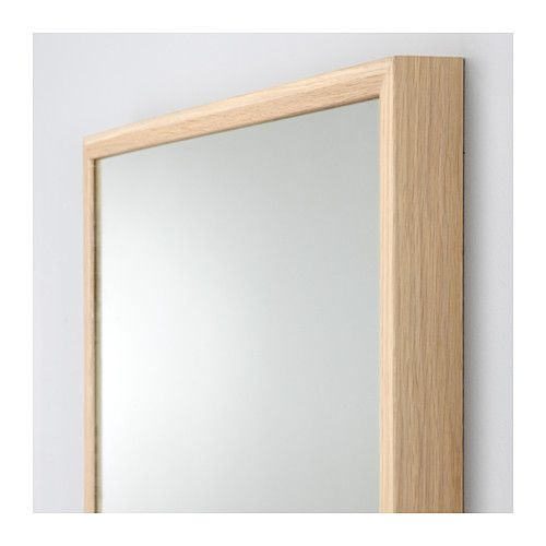 stave mirror white stained oak effect 27 1 2x63 ikea caela new house pinterest. Black Bedroom Furniture Sets. Home Design Ideas