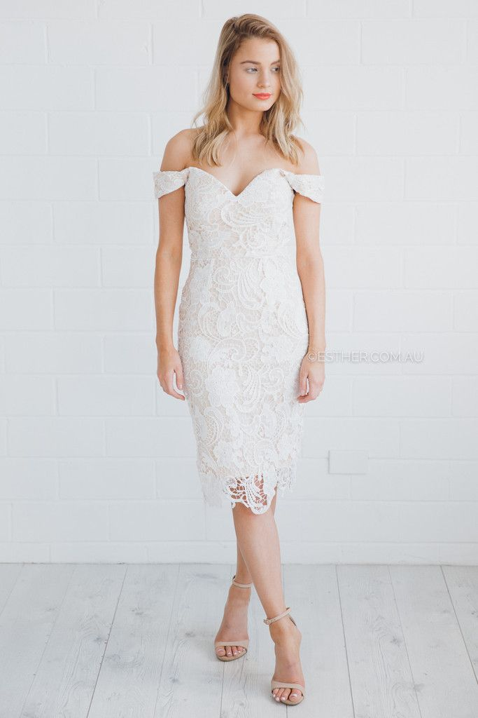 holland lace dress - ivory |Esther clothing Australia and America ...