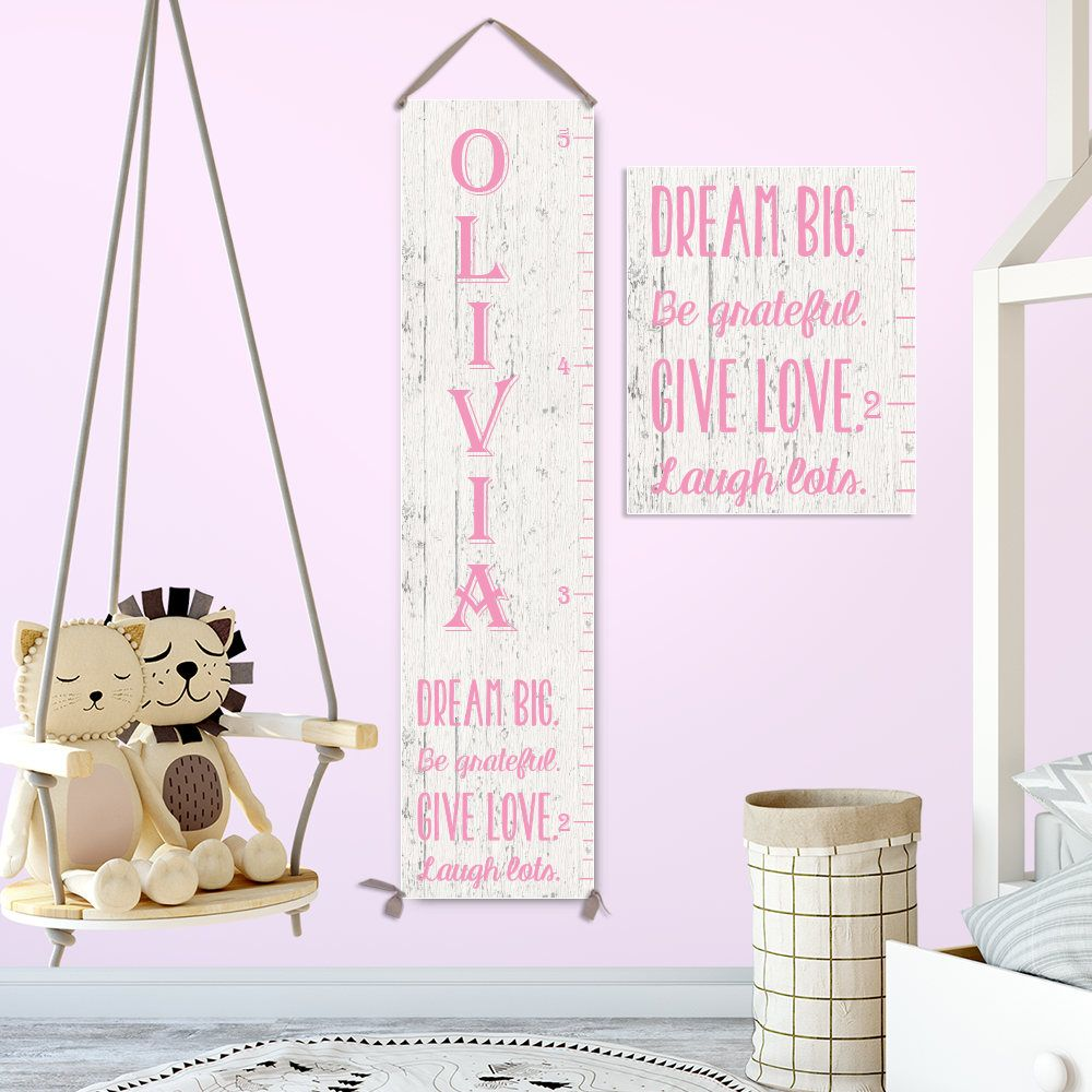 Growth chart ruler personalized canvas growth chart wood image on growth chart ruler personalized canvas growth chart wood image on canvas custom font nvjuhfo Gallery
