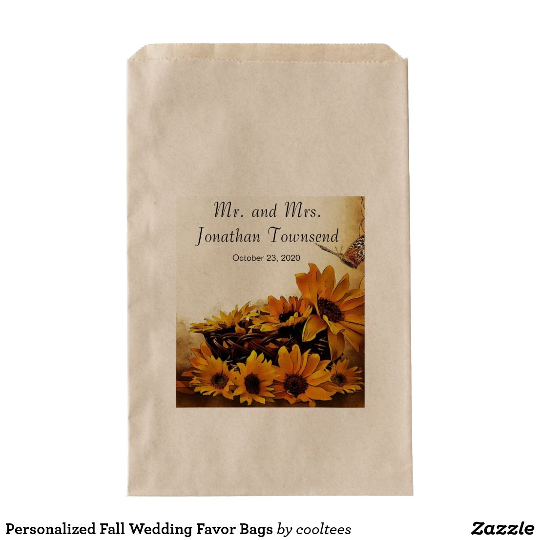 Personalized Fall Wedding Favor Bags | Wedding favor bags, Favor ...
