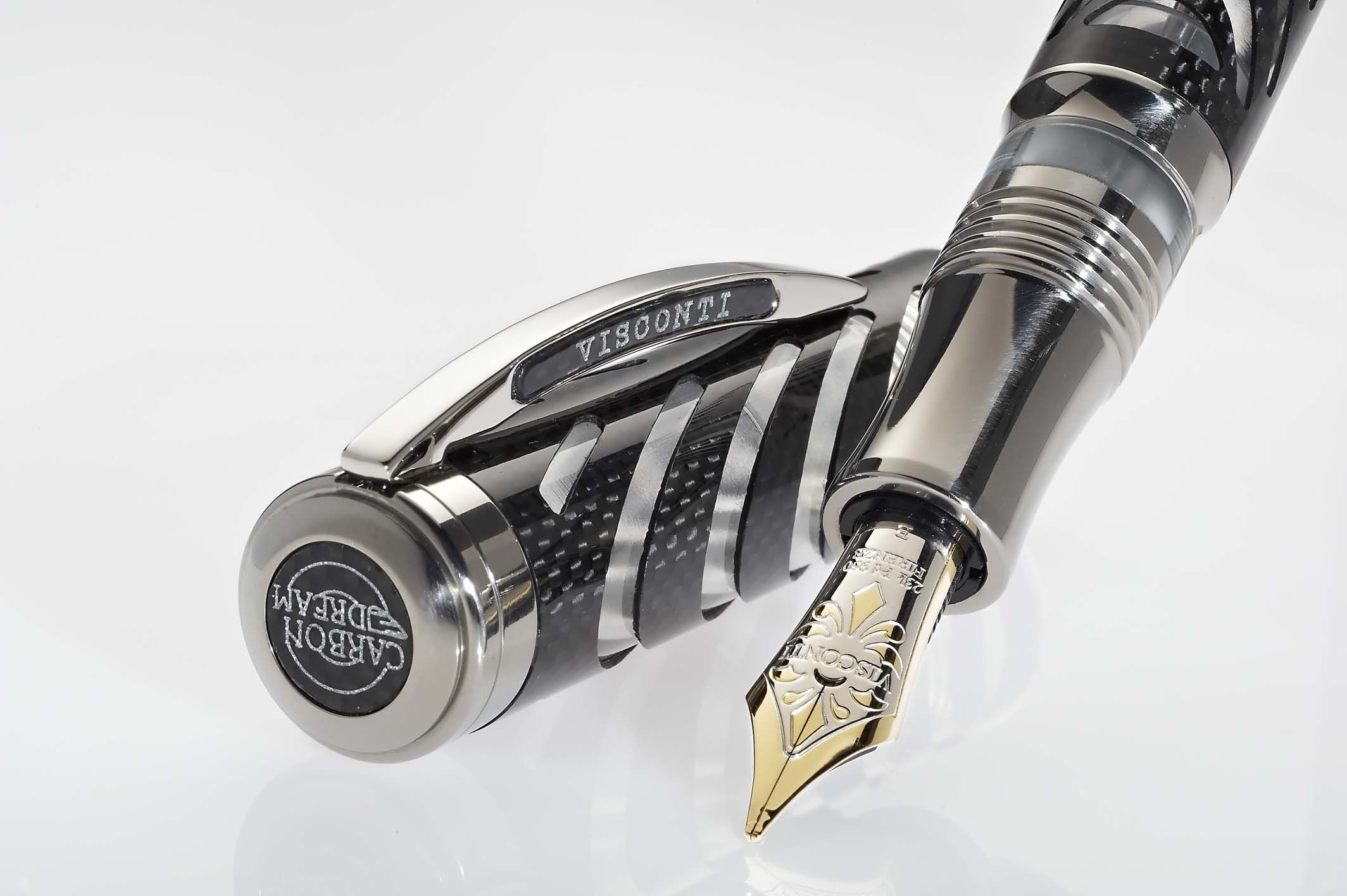 Carbon Dream is a fountain pen limited edition to 993 units. It represents a milestone in carbon fibre workmanship – for the first time in pen history the fine carbon weaving has been cut into the characteristic design of the Ripple - Visconti manufacturing icon.