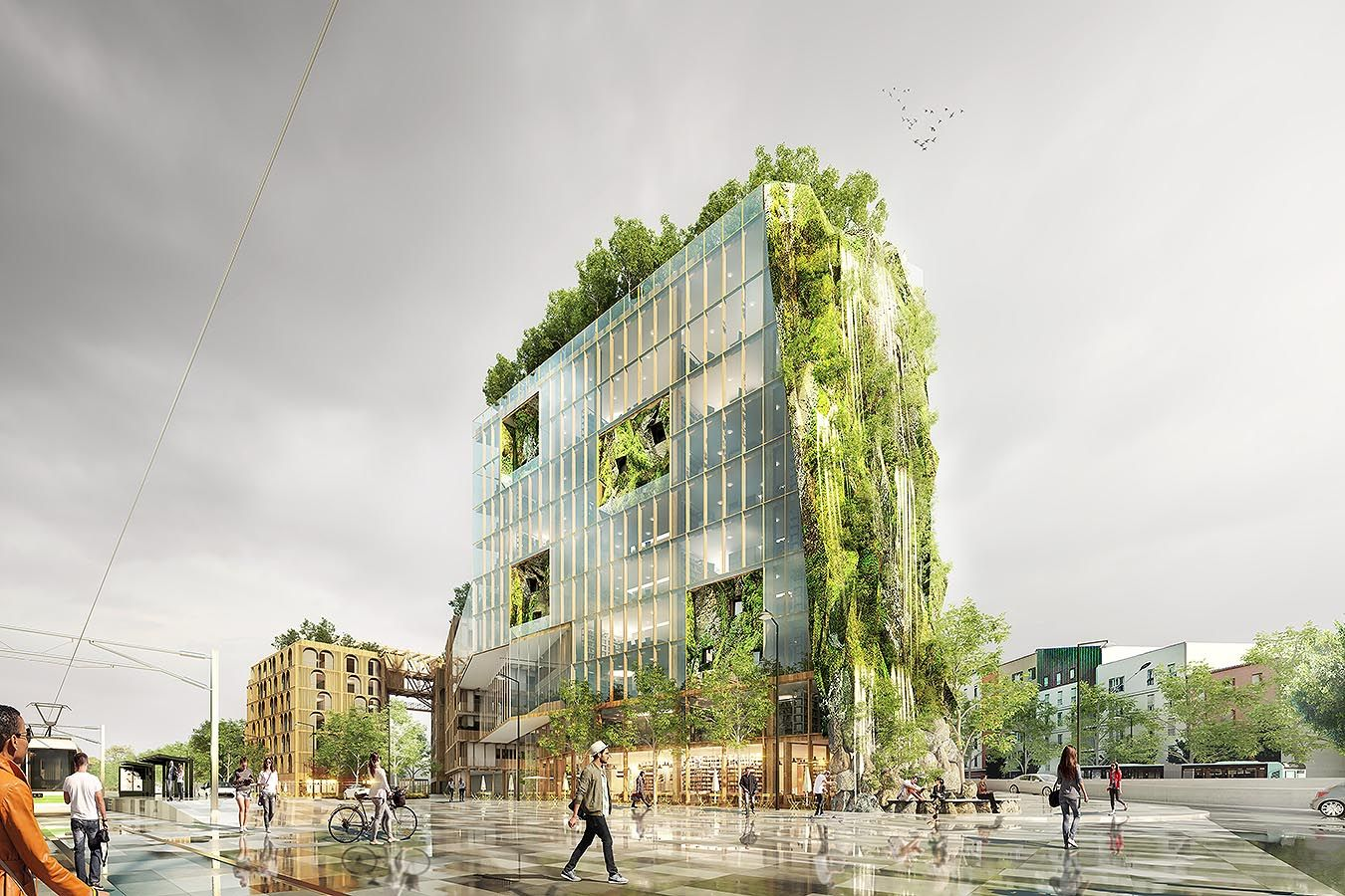 BRENAC GONZALEZ LA BOULE Architecture Pinterest D Animation - 384ft tall apartment will be the worlds first building to be covered in evergreen trees