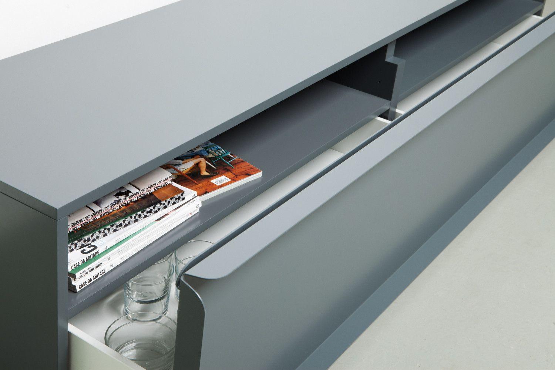 Quodes Nendo Collar Detail Lowboard 084 Cabinet Design Sideboard Designs Metal Furniture