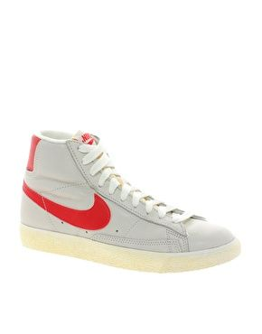 Nike Blazer White And Red