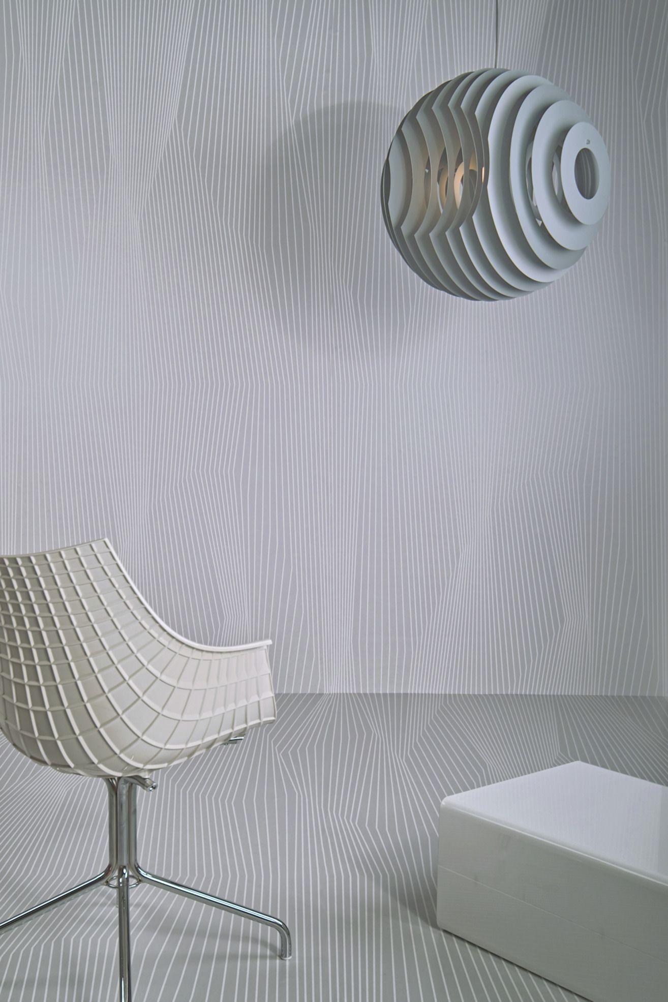 Raumbild Linear ganz grau klein | Vliesbehang | Pinterest ...