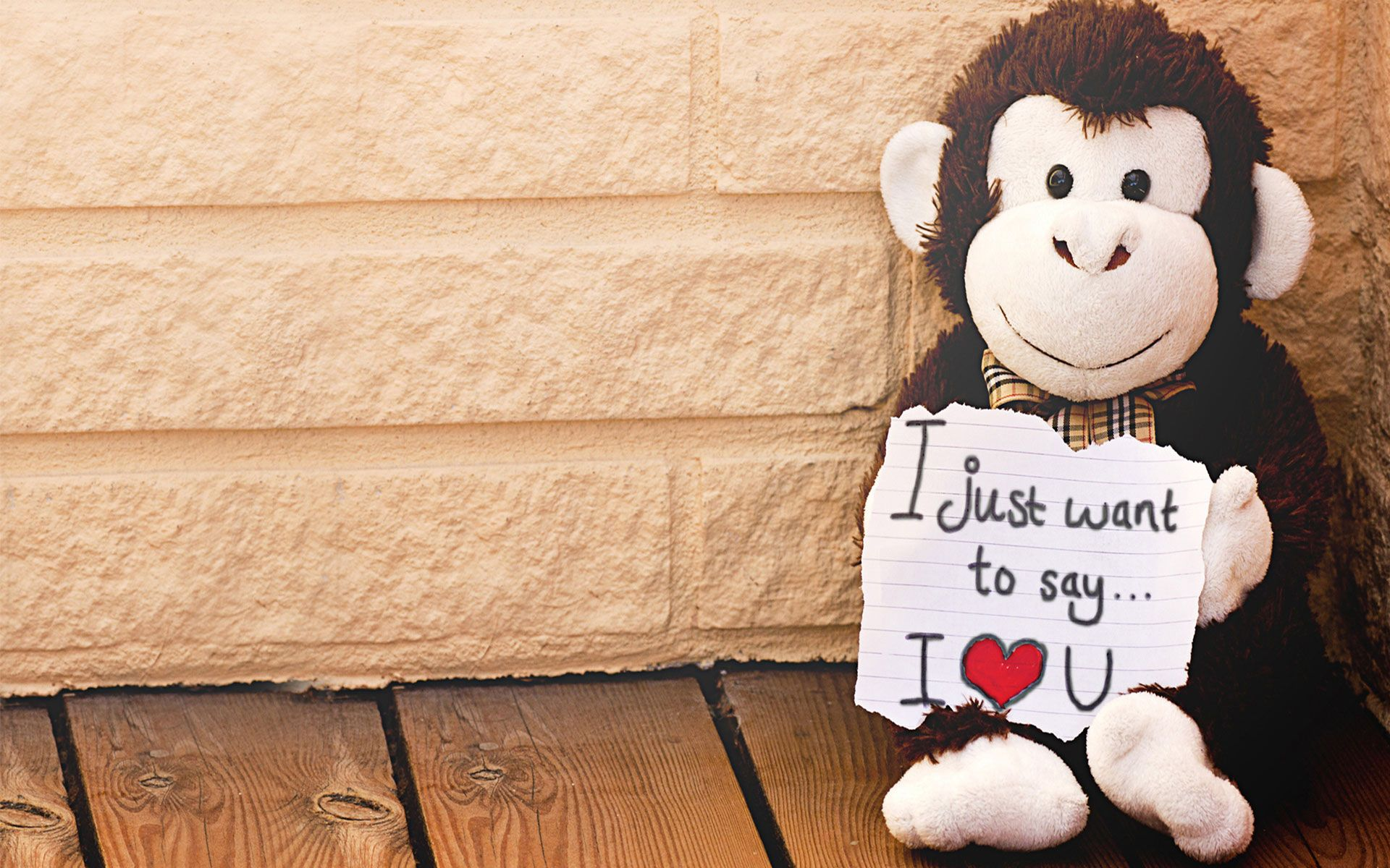 I Just Want To Say I Love You Wallpaper Monkey Doll Craft Ideas