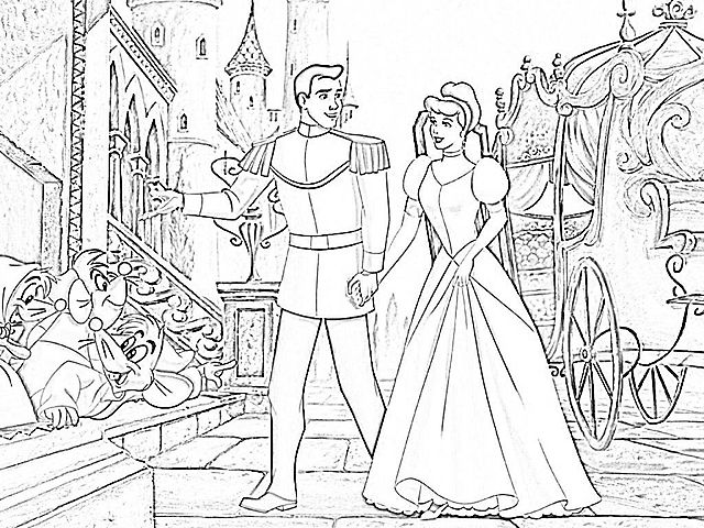 Disegni Da Colorare Cenerentola Castello Sigle Cartoni Pinterest