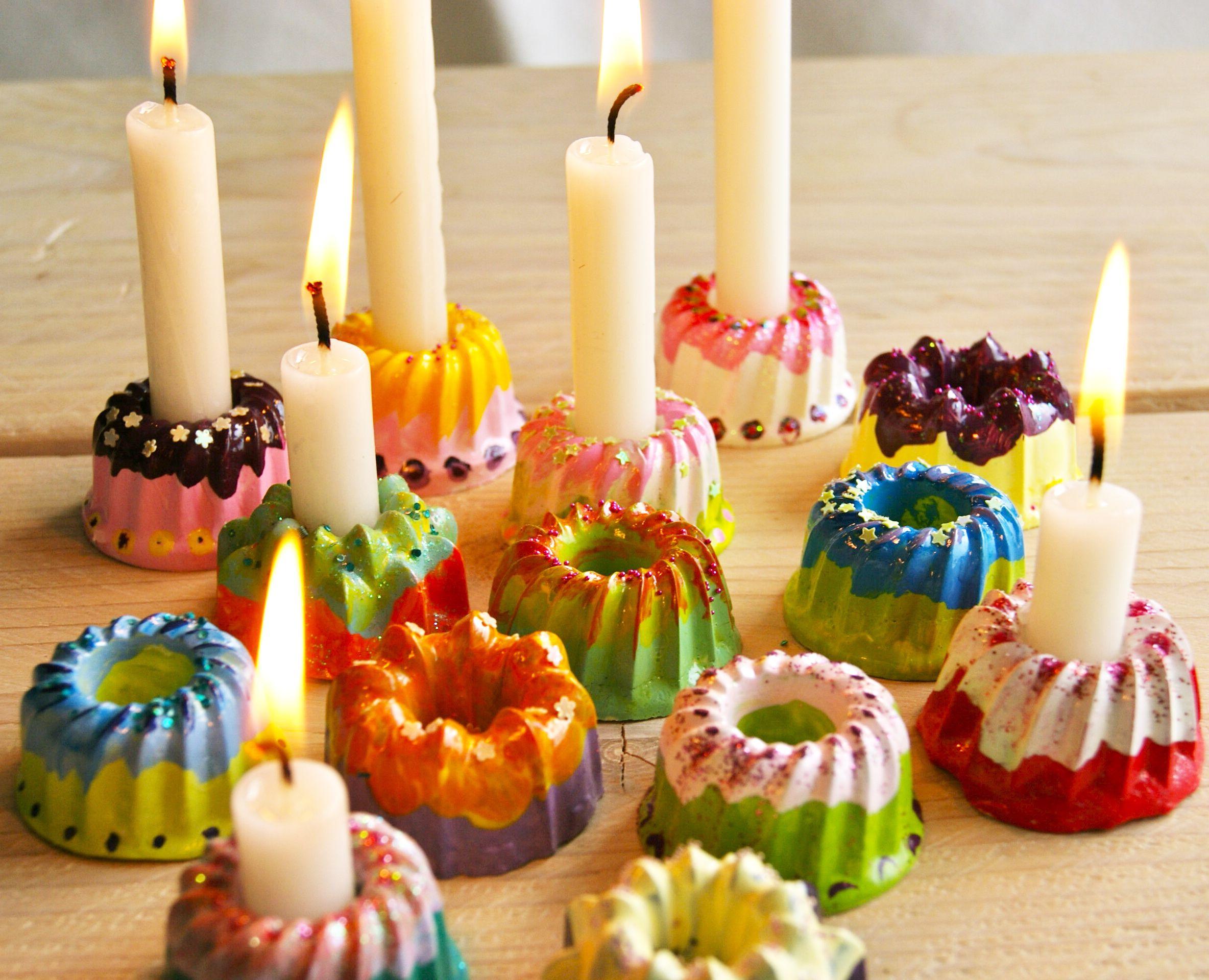 DIY Mini Gugl Kerzenständer Basteln & Co Pinterest