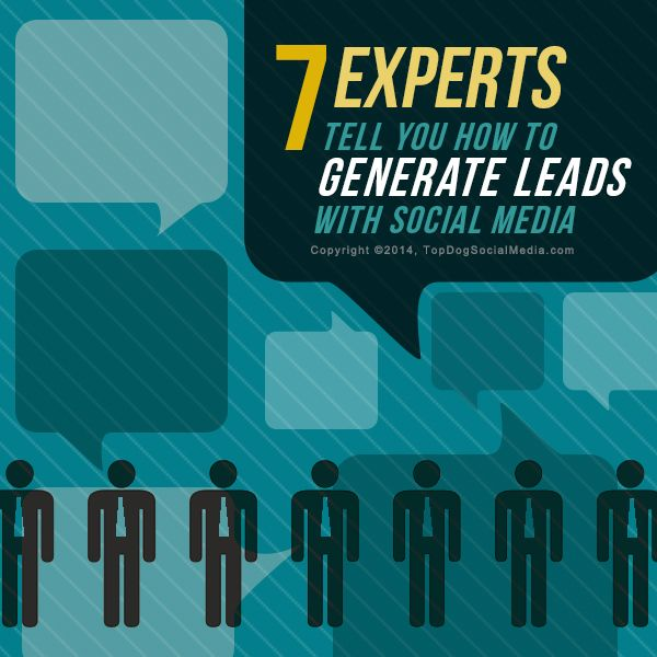 7 Experts Tell You How To Generate Leads With Social Media http://topdogsocialmedia.com/generate-leads-with-social-media/?utm_content=buffer00cae&utm_medium=social&utm_source=pinterest.com&utm_campaign=buffer #wombizclub