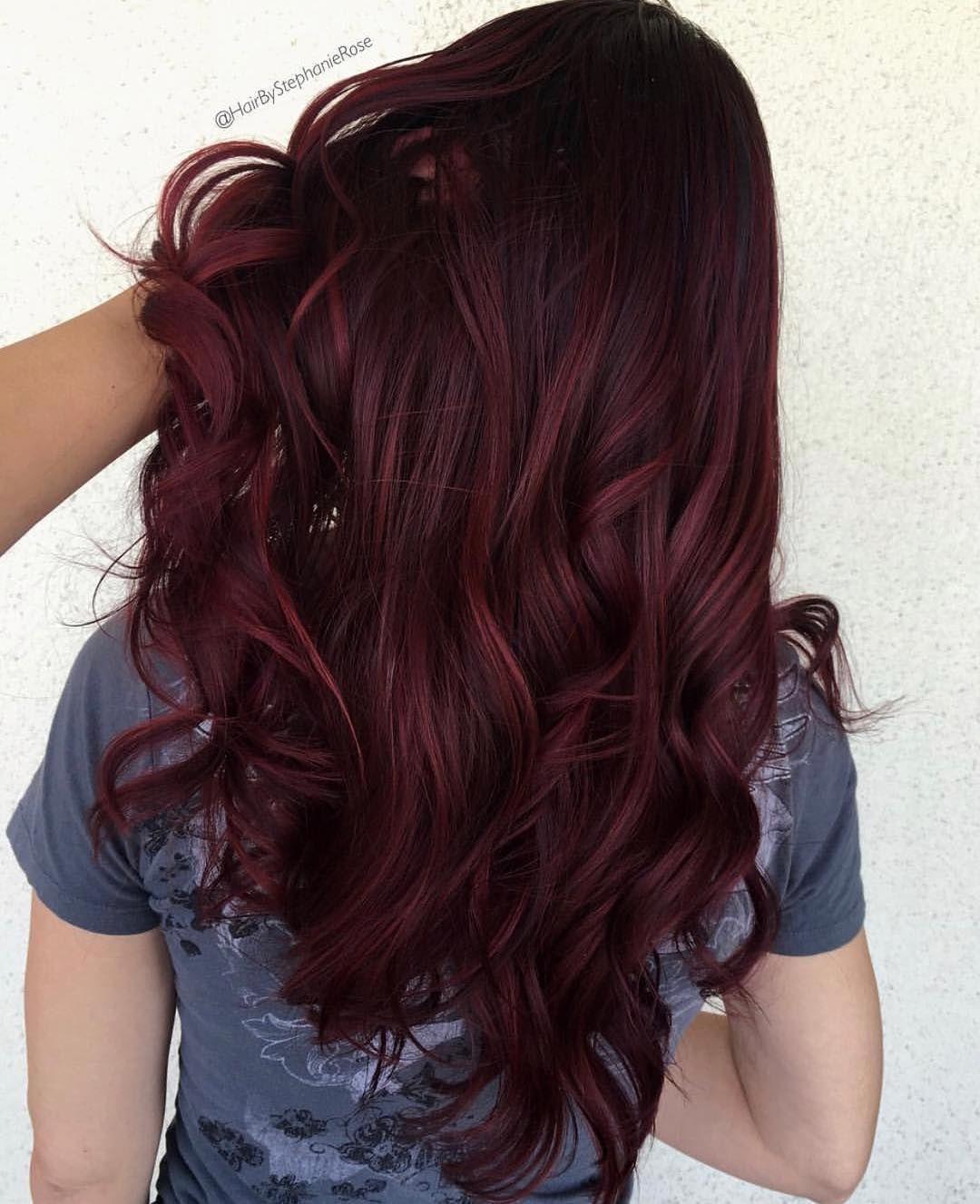 Dark Brown Burgundy Hair Color Makeup Hair Skin Pinterest