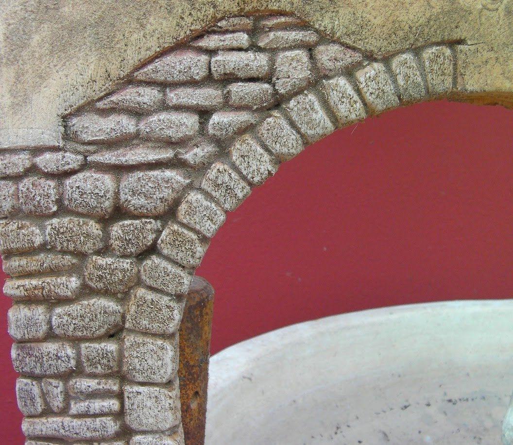 Imitaci n de arco de piedra para paredes imitation stone - Pintura imitacion piedra ...