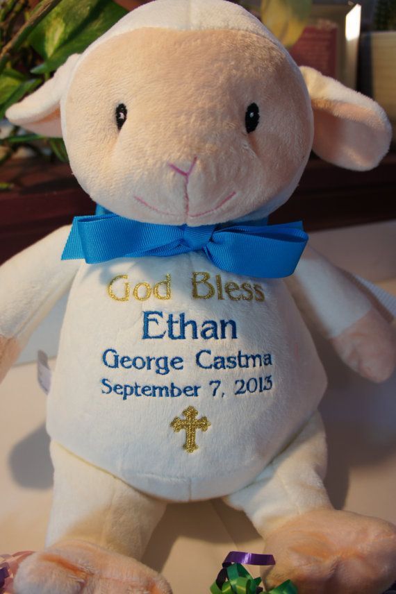 Personalized baby baptismal gift baby cubbies a plush stuffed personalized baby baptismal gift baby cubbies a plush stuffed animal keepsake for baptism baby dedication christening etc negle Images