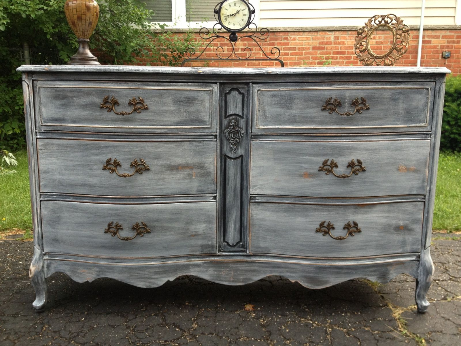 Best White Washed Rustic Painted Dresser By Twice Loved 640 x 480