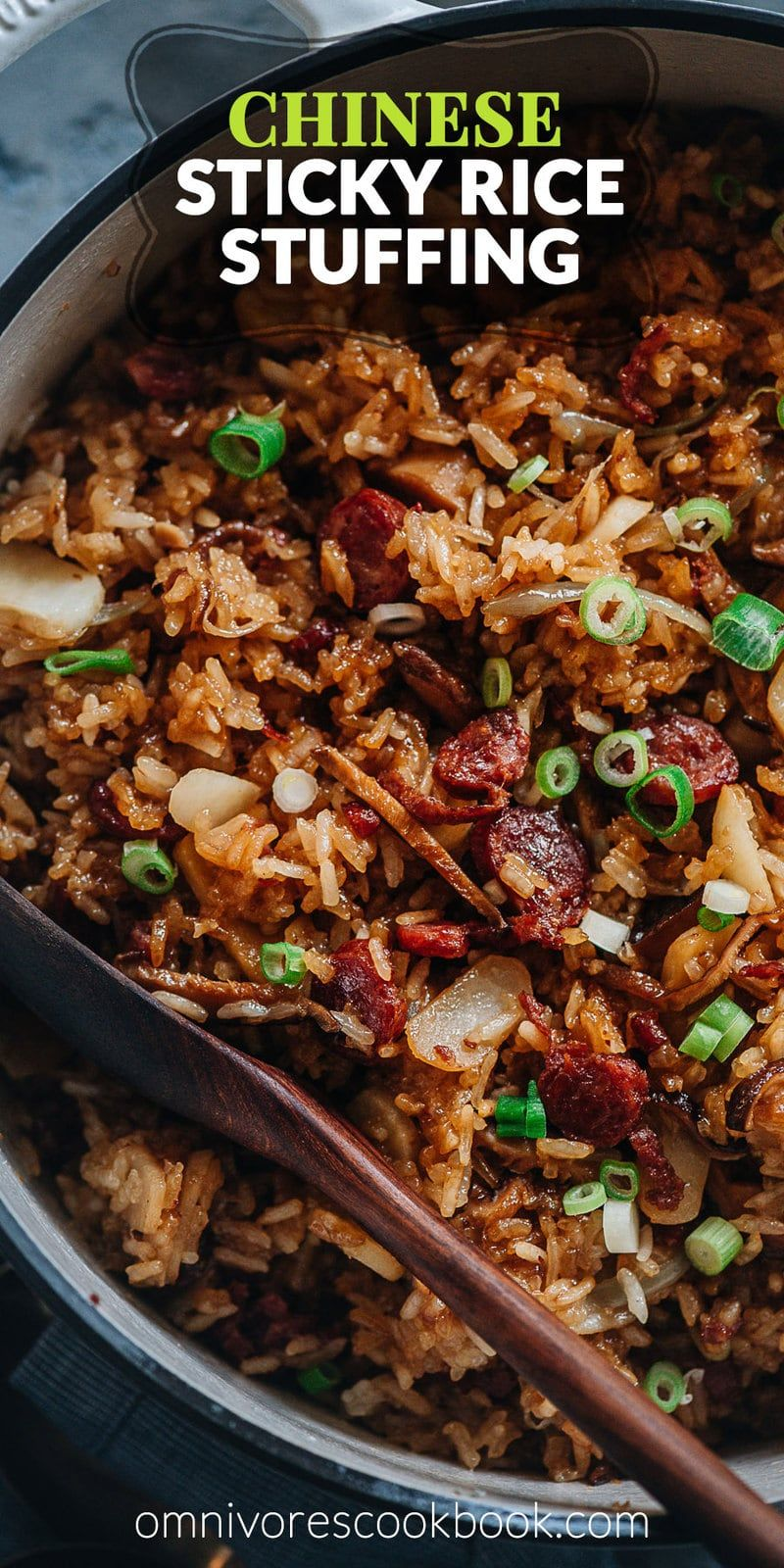 Sticky Rice Stuffing (A Chinese-Inspired Thanksgiving Recipe)