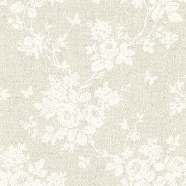 Gia Khaki Floral 2686-22025 Brewster Wallpaper