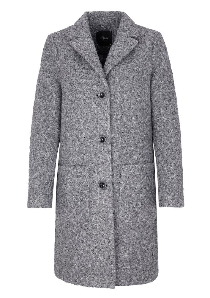 Xxs Black oliver Mantel Label DamenGraumeliertGröße S In TJKclF13