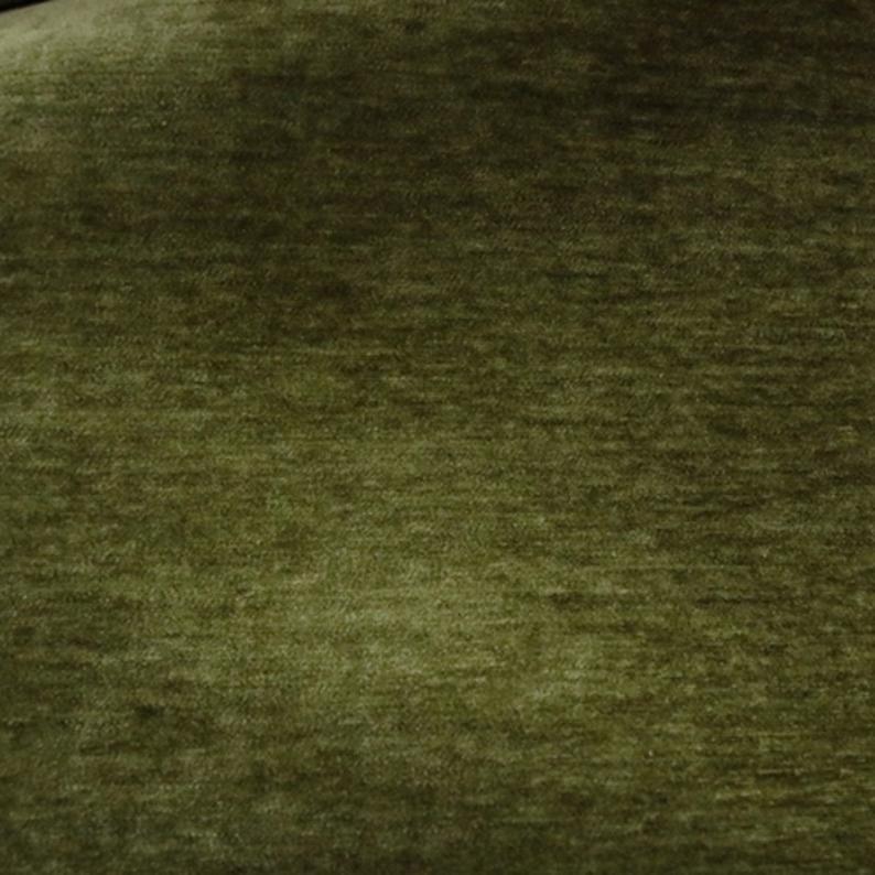 Lush Life - Chenille Velvet Upholstery Fabric By The Yard- Grass
